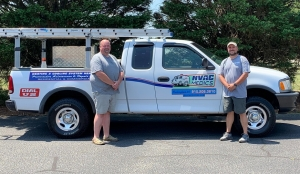 Mitchell Watson, left, and Kevin Tuttle, both deputies with the Richmond County Sheriff's Office, recently started a HVAC repair business after earning certifications through Richmond Community College.