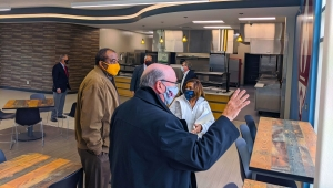 Richmond Community College Board of Trustees toured the new student café and the renovated Lee Building on the Hamlet Campus after the board meeting on Tuesday.