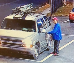 Investigators with the Hamlet Police Department say this man stole a car from one gas station before leaving it at another, stealing the victim's purse and other items. The suspect has not yet been identified.