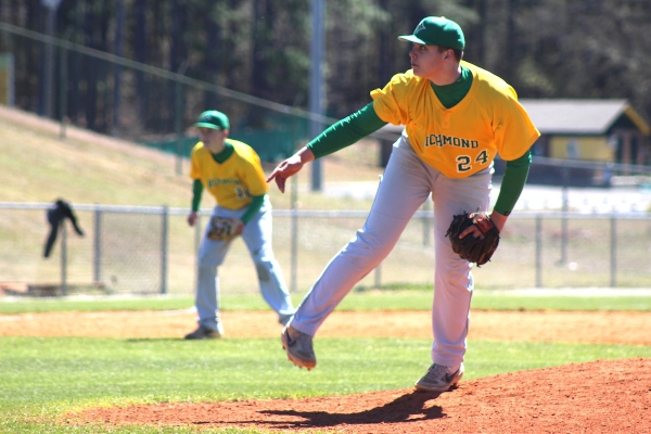Freshman JD Lampley earned his first career win in a complete game shutout on Saturday.