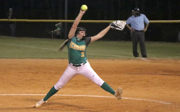 Senior pitcher Paige Ransom threw five innings of relief and had two RBIs in Wednesday's loss.