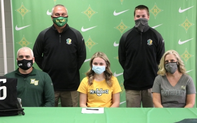SIGNED: Whitley celebrates letter of commitment to Methodist soccer
