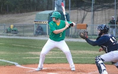 Freshman Ethan Clayton had two doubles in Richmond's loss to Purnell Swett.