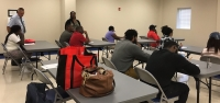 Dobbins Heights community members met Tuesday for an expungement clinic.