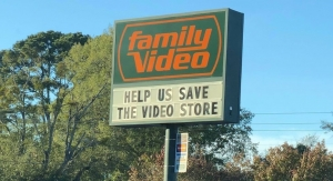 "The sign for Family Video on Nov. 21 reads ""Help us save the video store."" The parent company announced Tuesday that it was closing all locations."