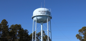 Richmond County water tower in Hoffman.