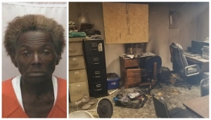 Sally Patterson is accused of setting a fire that burned an office at Ashley Chapel AME Zion church on Oct. 31.