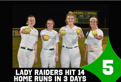 Top Sports Stories No. 5: Lady Raiders hit 14 homers in three days