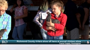 VIDEO: Richmond County 4-Hers show off hens at annual chicken show