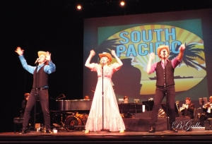 "A group of performers sing a selection of ""South Pacific"" during ""Broadway Tonite Live"" at Cole Auditorium last week."