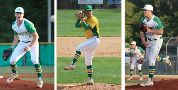 Seniors Jonathan Lee, Drew Loving and Trey Watkins were named to the All-SAC baseball team.