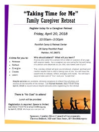 April 20th Caregiver Retreat