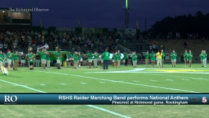 RSHS Raider Marching Band performs National Anthem