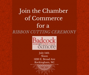 Business on the Rise in Rockingham: Badcock & More Home Furniture Cuts Ribbon for Grand Re-opening