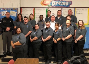 The 2019 graduates of Richmond Community College's Emergency Medical Technician program are Bryan Beach, Christie Warren, Keyshawn Melton, Zac Sharpe, Bryan Lee, Brenden Watson, Kyle Pedley, April Whitley, Heather Bellamy, Kim Gatlin, Paige Bellamy, Nathan Singletary, Sonia McCormick, Summer Dawkins, Breanna Hoffman and Michelle Frazier