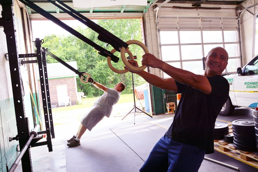 Laurinburg Police officer and CrossFit open competitor Richard Tavai will be leading the fitness class for local first responders.