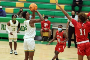 The Raiders' Paul McNeil scored a game high 28 points during Friday night's game against Seventy-First.
