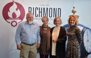 Pictured are the children of the late John and Betty Williamson, from left, Lee Williamson, Betty Lynn Warnock, Claire Brothers and Dr. Cile Williamson, after a reception for the scholarship they established at Richmond Community College in memory of their parents. Not pictured is John Williamson, Jr.