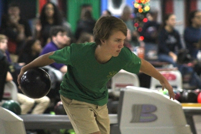 Senior Evan Hudson bowled four-straight strikes at on point during Richmond's matches last Thursday.