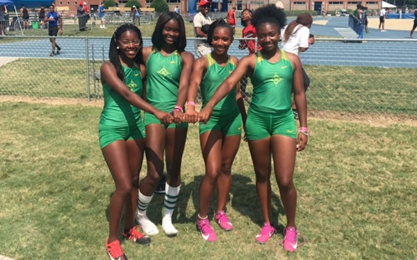 Dymond McNeal, Jakerra Covington, Monasia Kearns and Maddisyn Diggs earned fourth place in the 4x100 relay.