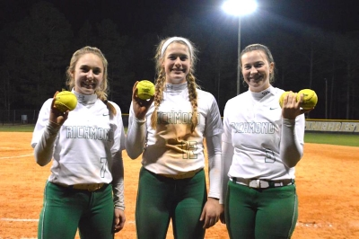 Payton Chappell, Savannah Lampley and Taylor Parrish combined for four homers in Tuesday's win over Pinecrest.