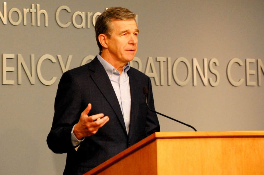 ov. Roy Cooper addresses a news briefing about riots in several N.C. cities May 31, 2020.
