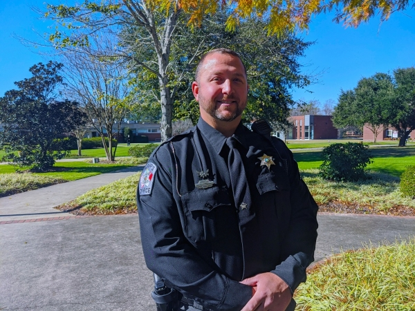 Richmond Community College student James Hamby will graduate with his Associate in Arts degree in December. He plans to now pursue a bachelor's degree in order to help further his career in law enforcement.
