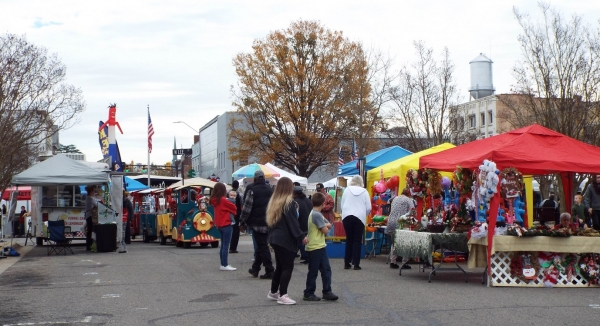 Christmas on the Square was cut short Saturday due to rain.