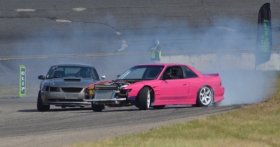 Neal skids to 1st in 2nd round of MB Drift comp at Rockingham Speedway