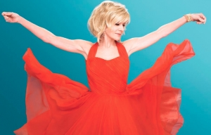 "Debby Boone on her latest album cover ""Swing This""."