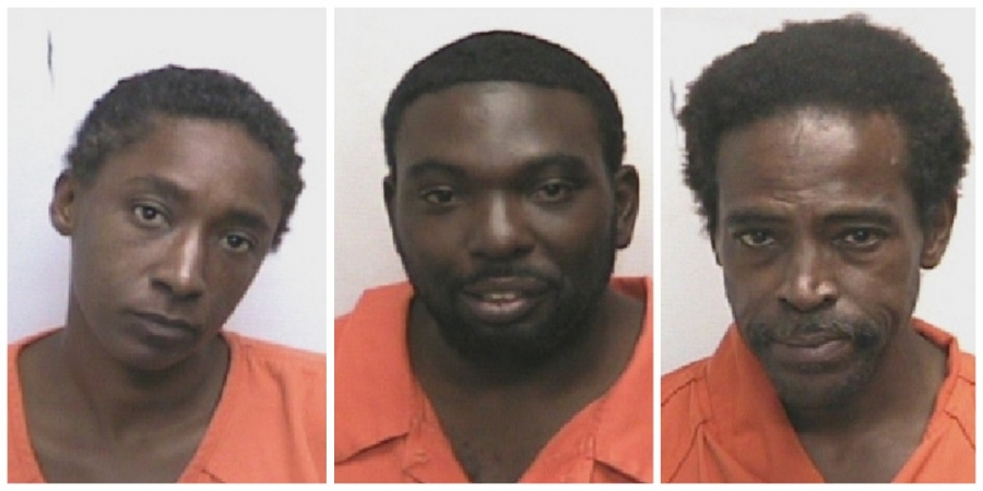 Rosheeda Prince, left, is accused of stealing a car and leading police on a chase early Tuesday morning. Parrish Harris and Manboy Allen are both charged with resisting a public officer.