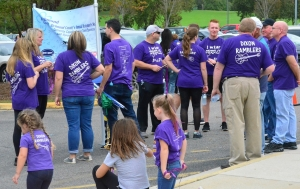 The Dixon Ramblers made up almost one-third of the participants in Saturday's Alzheimer's Walk at Cole Auditorium.