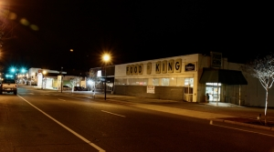 Tuesday evening photo of the former Food King location to be purchased by city for economic re-development.
