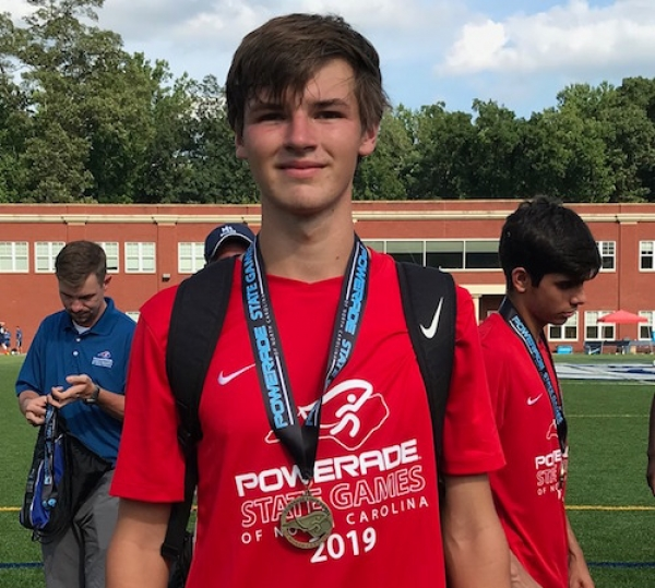 Richmond's Lee Hayden smiles with his Powerade State Games gold medal following the weekend tournament.
